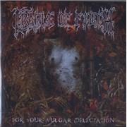 Cradle Of Filth For Your Vulgar Delectation UK CD-R acetate Promo