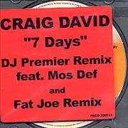 Click here for more info about 'Craig David - 7 Day Remixes'