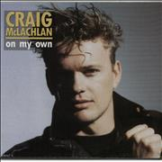 Click here for more info about 'Craig McLachlan - On My Own - Poster Sleeve'