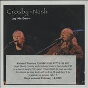 Click here for more info about 'David Crosby & Graham Nash - Lay Me Down'