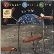 Click here for more info about 'Crosby, Stills & Nash - Live It Up - stickered shrink'