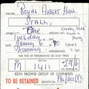Click here for more info about 'Crosby, Stills, Nash & Young - 1970 Royal Albert Hall Ticket'