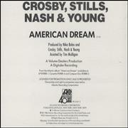 Click here for more info about 'Crosby Stills Nash & Young - American Dream'