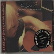 Click here for more info about 'Crosby Stills Nash & Young - Looking Forward - gold promo stamped'
