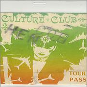 Click here for more info about 'Culture Club - Backstage Pass'