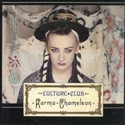 Click here for more info about 'Culture Club - Karma Chameleon - Card P/S'