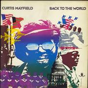 Curtis Mayfield Back To The World UK vinyl LP