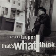 Click here for more info about 'Cyndi Lauper - That's That I Think'