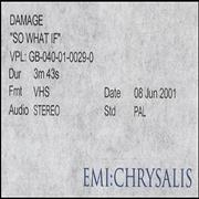 Click here for more info about 'Damage - So What If'