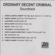 Click here for more info about 'Damon Albarn - Ordinary Decent Criminal'
