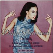Click here for more info about 'Dana Dawson - 3 Is Family - Display Flat'