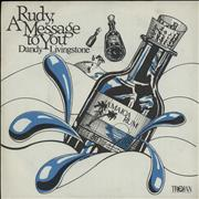 "Dandy Livingstone Rudy, A Message To You UK 7"" vinyl"