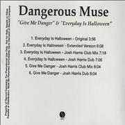 Click here for more info about 'Dangerous Muse - Give Me Danger & Everyday Is Halloween'