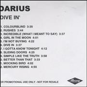 Click here for more info about 'Darius - Dive In'