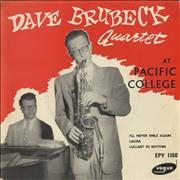 Click here for more info about 'Dave Brubeck - At Pacific College EP'