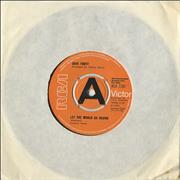 "Dave Fortt Let The World Go Round UK 7"" vinyl Promo"