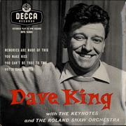 Click here for more info about 'Dave King - Dave King EP'