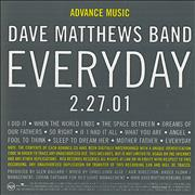 Dave Matthews Band Everyday USA CD album Promo