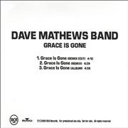 Dave Matthews Band Grace Is Gone USA CD-R acetate Promo