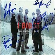 Dave Matthews Band I Did It - autographed USA CD single Promo