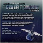 Dave Matthews Band Warren Haynes Presents: The Benefit Concert Volume 8 USA CD album Promo