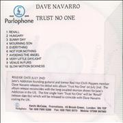 Click here for more info about 'Dave Navarro - Trust No One'
