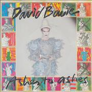 Click here for more info about 'David Bowie - Ashes To Ashes - P/S'