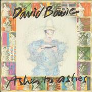 Click here for more info about 'David Bowie - Ashes To Ashes - P/S B'