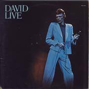 Click here for more info about 'David Bowie - David Live - 1st - EX'