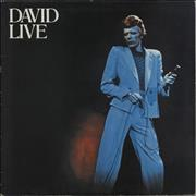 Click here for more info about 'David Bowie - David Live - EX'