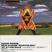 Click here for more info about 'David Bowie - Earthing Fold Out Handbill'