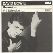 Click here for more info about 'David Bowie - Heroes + p/s - wide'