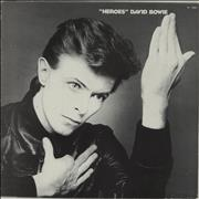Click here for more info about 'David Bowie - Heroes - Italian Vinyl + Insert - EX'