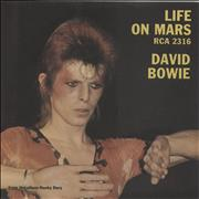 Click here for more info about 'David Bowie - Life On Mars - P/S - EX'