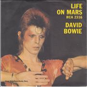 Click here for more info about 'David Bowie - Life On Mars - P/S'