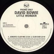Click here for more info about 'David Bowie - Little Wonder - White label + PR'