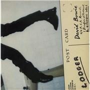 David Bowie Lodger + Insert UK vinyl LP