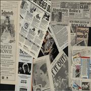 Click here for more info about 'David Bowie - Quantity of Magazine & Newspaper Cuttings - 1986'