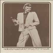 Click here for more info about 'David Bowie - Radio City Music Hall Handbill'