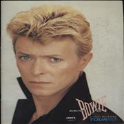 Click here for more info about 'David Bowie - Serious Moonlight Tour 83 - Levi Sponsored + Insert'