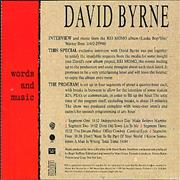 Click here for more info about 'David Byrne - Words & Music'