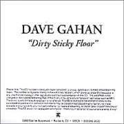 Click here for more info about 'David Gahan - Dirty Sticky Floor'