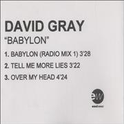 Click here for more info about 'David Gray - Babylon'