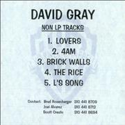 Click here for more info about 'David Gray - Non LP Tracks'