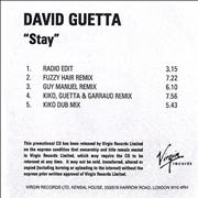 Click here for more info about 'David Guetta - Stay'