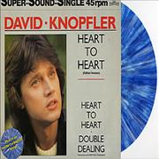 Click here for more info about 'David Knopfler - Heart To Heart - blue swirl'