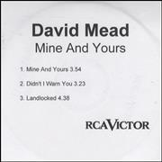 Click here for more info about 'Mine And Yours - Three Track'