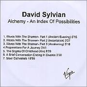 Click here for more info about 'David Sylvian - Alchemy - An Index Of Possibilities'