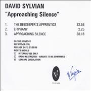 Click here for more info about 'David Sylvian - Approaching Silence'