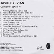 Click here for more info about 'David Sylvian - Camphor'